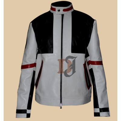 Designer Chaser Box White Mens Biker Leather Jacket | Motorcycle Leather Jacket