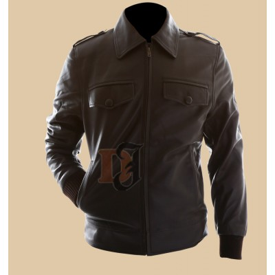 The Avengers Steve Rogers Brown Biker Leather Jacket | Movies Jackets