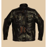 Triumph Lawford Mens Leather Motorcycle Jacket | Black Leather Jacket