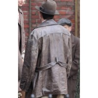 Live By Night Distressed Leather Jacket | Joe Coughlin Leather Coat