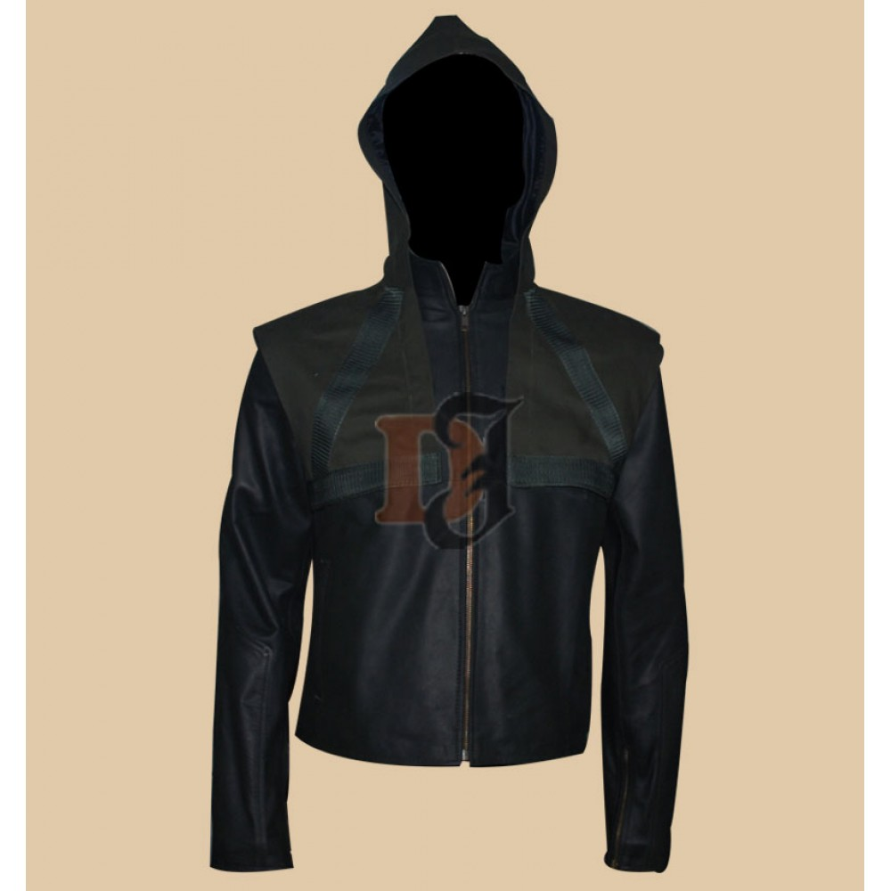 Arrow Season 2 Stephen Amell (Oliver Queen) Hoodie Leather Jacket