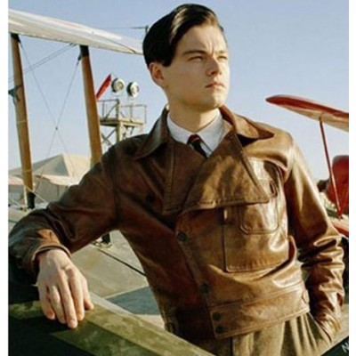 The Aviator Leonardo Dicaprio Leather Jacket | Howard Hughes Flight Jacket