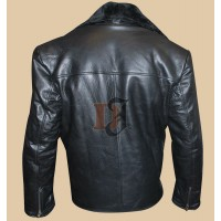 Men's Stylish High Quality Black Genuine Leather Jacket | Black Jackets