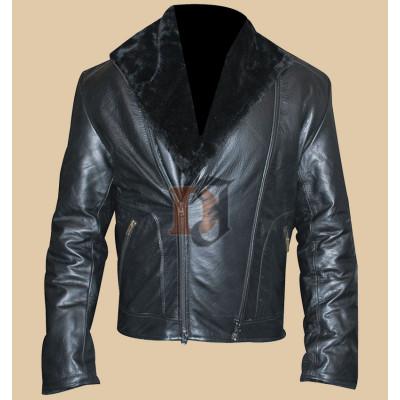Men's Stylish High Quality Black Genuine Leather Jacket | Black Jackets