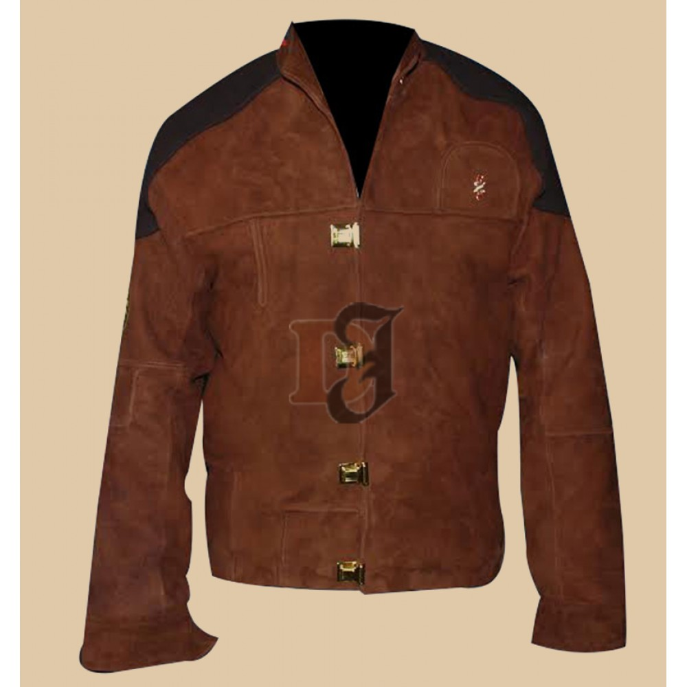 Battlestar Galactica Colonial Warrior Suede Leather Jacket