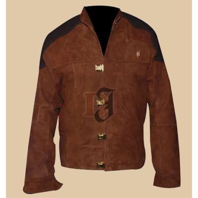 Battlestar Galactica Colonial Warrior Suede Leather Jacket