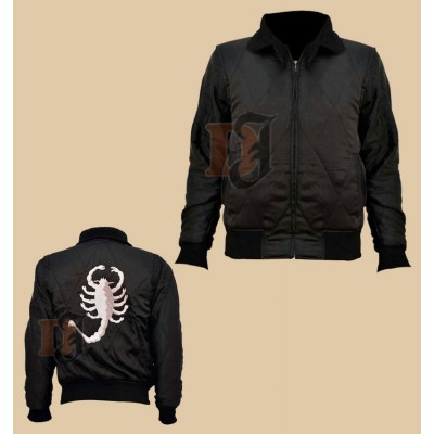 Scorpion Black Drive Jacket | Ryan Gosling Jacket