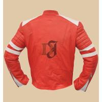 Fight Club Brad Pitt (Tyler Durden) Red Leather Jacket   Red Jackets