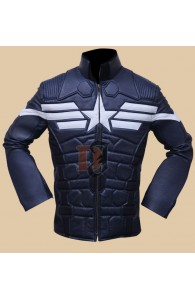 The Winter Soldier Captain America Leather Jacket | Costume Jackets