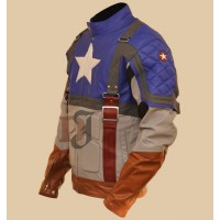 Captain America Chris Evans Leather Costume Jacket | Movies Leather Jackets