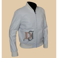 Crazy Stupid Love Ryan Gosling White Leather Jacket | Men's Movie Jackets
