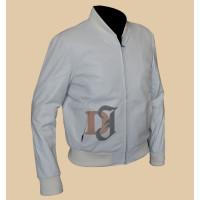 Crazy Stupid Love Ryan Gosling White Leather Jacket | Men's Movie Jackets