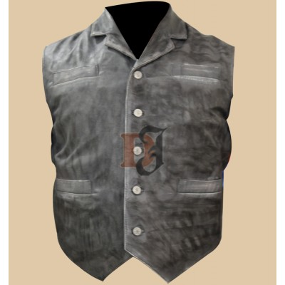 Cullen Bohannan Hell on Wheels Stylish Leather Vest | Distressed Leather Vest