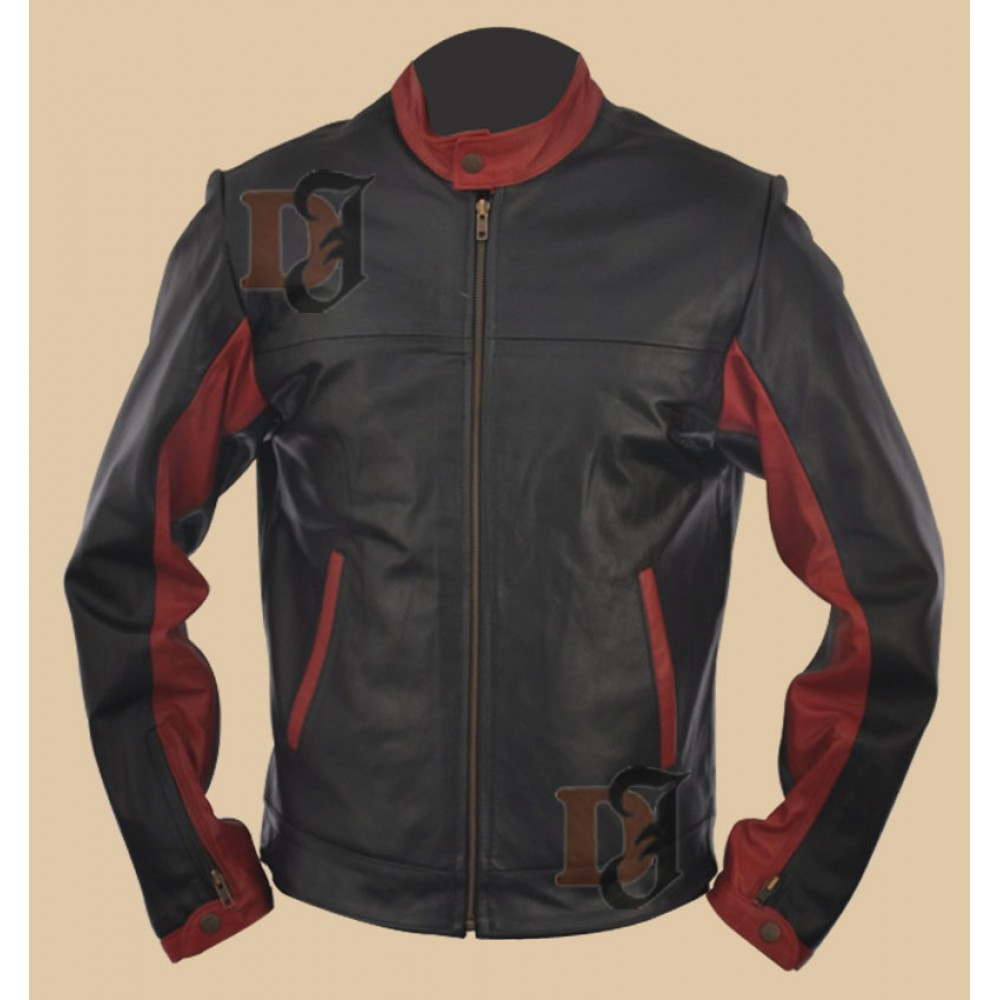 The Dark Knight Batman Jacket - Christian Bale Jacket | Black and Red Jacket