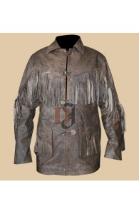 DEADFALL ERIC BANA DISTRESSED LEATHER JACKET | Women Jackets