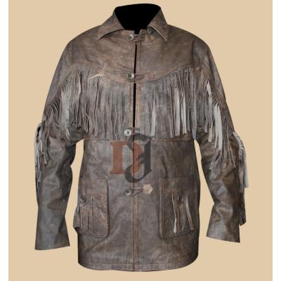 DEADFALL ERIC BANA DISTRESSED LEATHER JACKET | Women Jackets