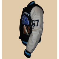 Detroit Lions Beverly Hills Axel Foley Letterman Jacket | Fleece Jackets