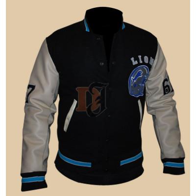 Detroit Lions Beverly Hills Axel Foley Letterman Jacket | Fleece Jackets