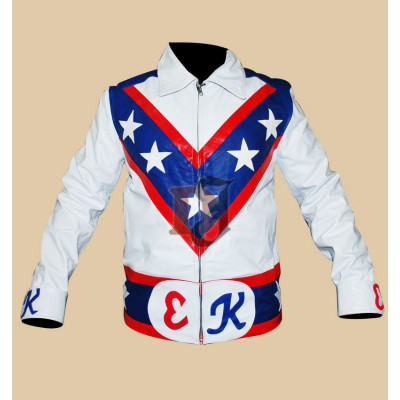 American 1970s Star Evel Knievel White Costume | Hero Jackets