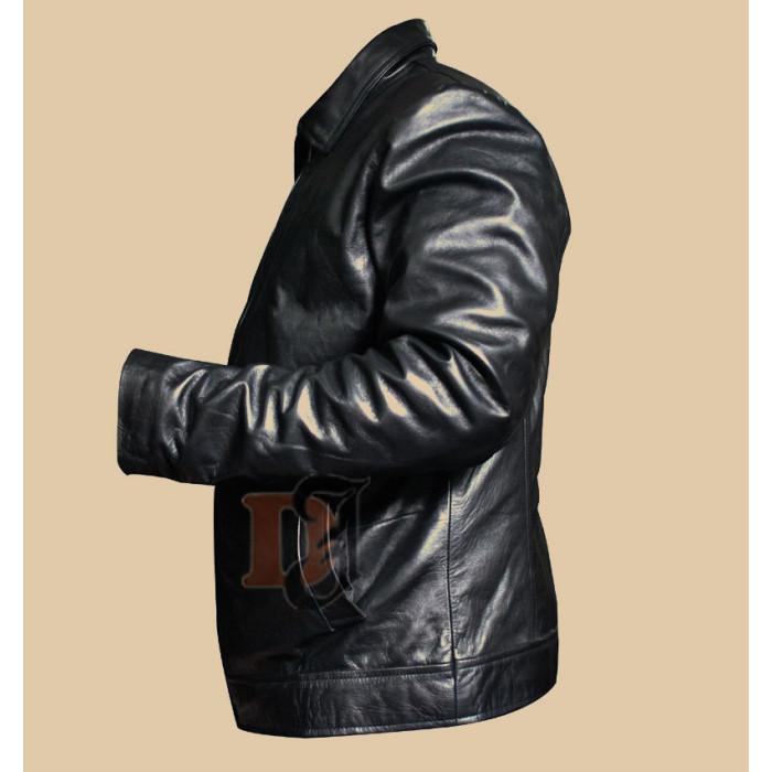5562352e0 Buy Faster Dwayne Johnson The Rock Black Leather Jacket