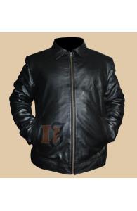 Faster Dwayne Johnson The Rock Black Leather Jacket | Black Jackets
