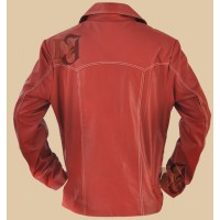 Fight Club Brad Pitt (Tyler Durden) Red Leather Jacket | Red Jackets