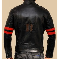Fight Club Style Black Men's Leather Jacket | Distressed Jackets