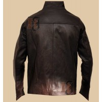 John Travolta Paris With Love Leather Jacket | Waxed Brown Leather Jackets