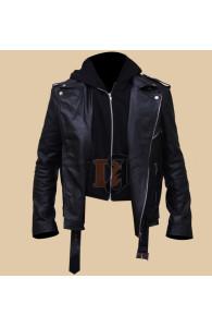 Milo Ventimiglia Gilmore Girls Hooded Leather Jacket | Film Stars Leather Jackets