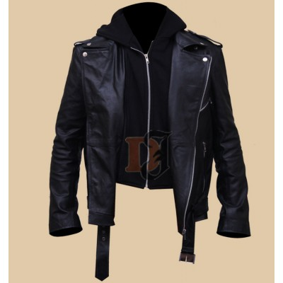 Milo Ventimiglia Gilmore Girls Hooded Leather Jacket | Film Stars Leather Jackets