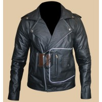 T Bird Grease Danny Zuko Leather Jacket | Hero Black Leather Jacket
