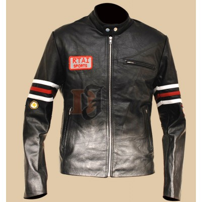 House M.D. Gregory Motorcycle Leather Jacket | Black Leather Jacket