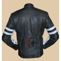 House of D: David Duchovny Stylish Black Leather Jacket | Distressed Jackets