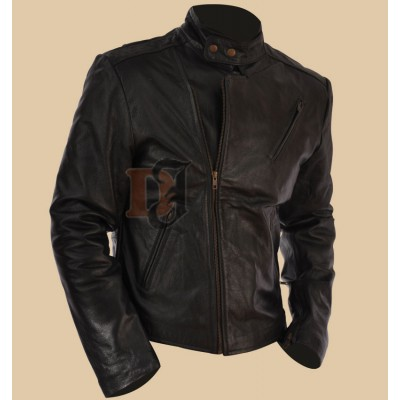 Ironman Tony Stark Stylish Black Real Leather Jacket | Mens Leather Jacket