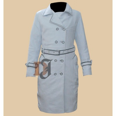 Daryl Hannah (Elle Driver) Kill Bill White Leather Coat | Womens Coat