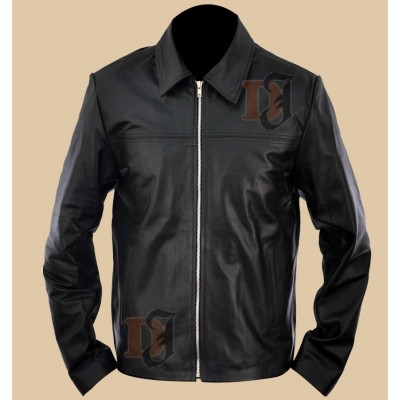 Layer Cake Jacket - Daniel Craig Leather Jacket | Mens Black jackets