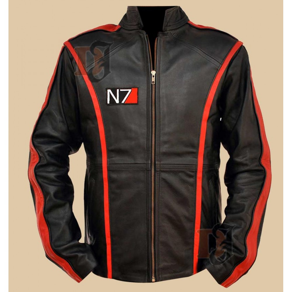 Mass Effect 3 Game - N7 Military Leather Jacket | Black Jackets