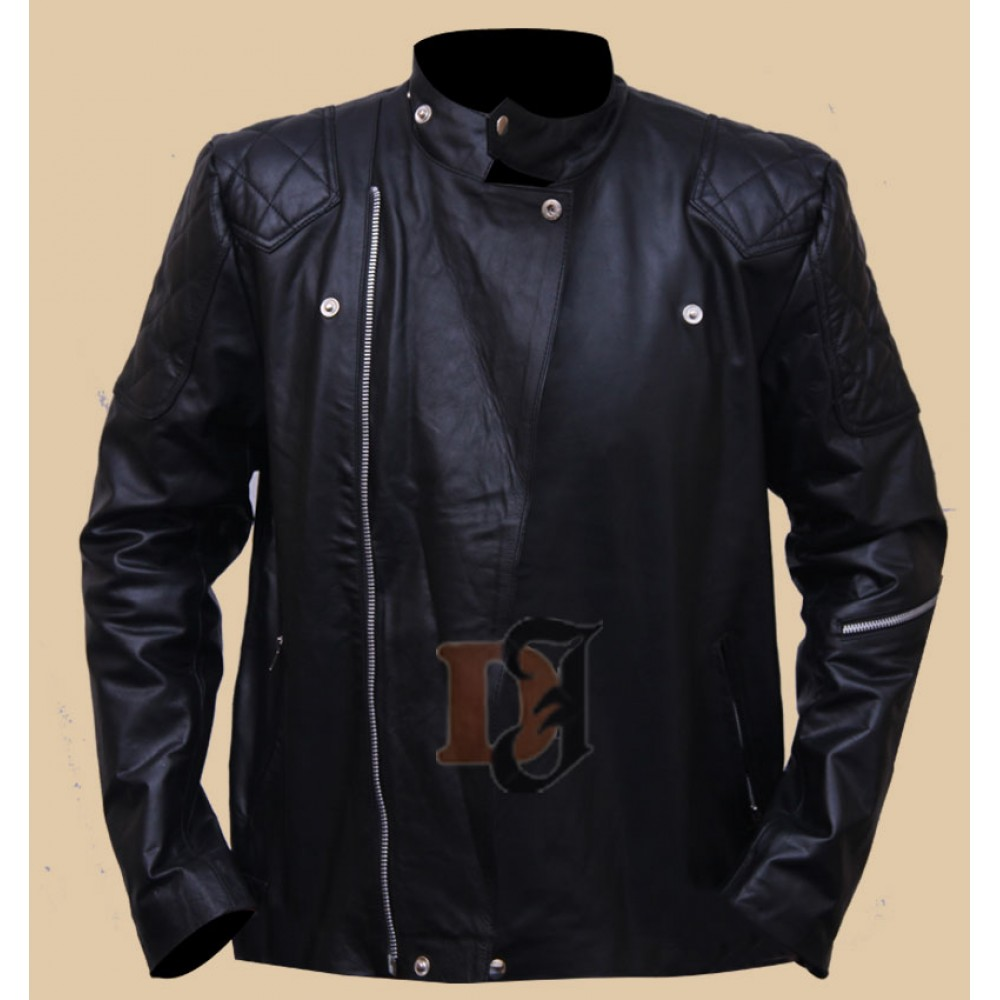 Metal Gear Solid V Snake Biker Jacket | black stylish leather jacket