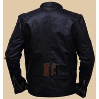 Metal Gear Solid V Snake Biker Jacket   black stylish leather jacket