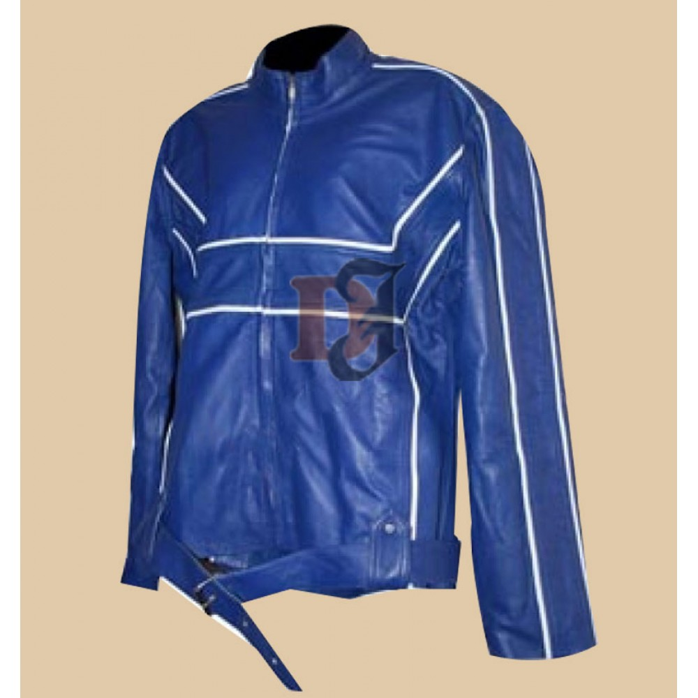 Once Upon a Time Emma Swan Blue Leather Jacket   Women Blue Jackets