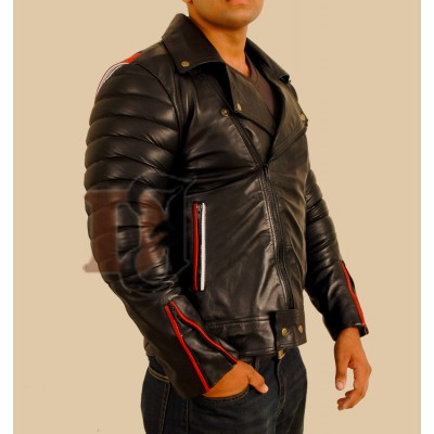 Ryan Gosling Blue Valentine Black Leather Jacket Men's | Black Stylish Jacket