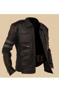 Resident Evil 6 Jacket | Brown Leather Jacket