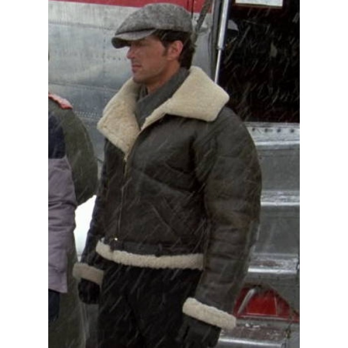 Buy Bomber Style Rocky Balboa Leather Faux Shearling