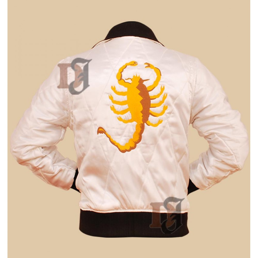 Drive Scorpion Ryan Gosling Embroidered Jacket | Satin Jackets