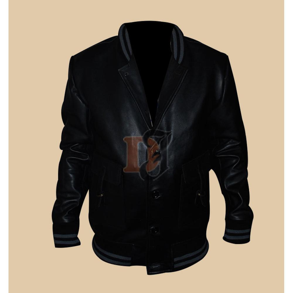 Spread Ashton Kutcher (Nikki) Jacket | Black Leather Jackets