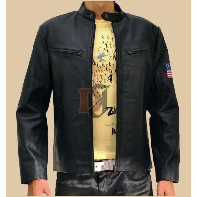 Hugh Jackman Swordfish Stylish Black Leather Jacket | Superstar Jackets