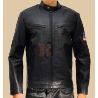 Hugh Jackman Swordfish Stylish Black Leather Jacket | Superstar Jackets
