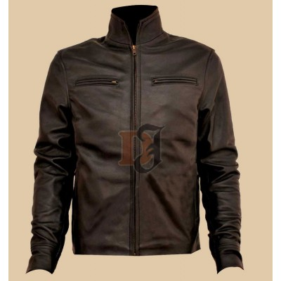 Tom Hanks (Larry Crowne) Leather Jacket | Distressed Jacket
