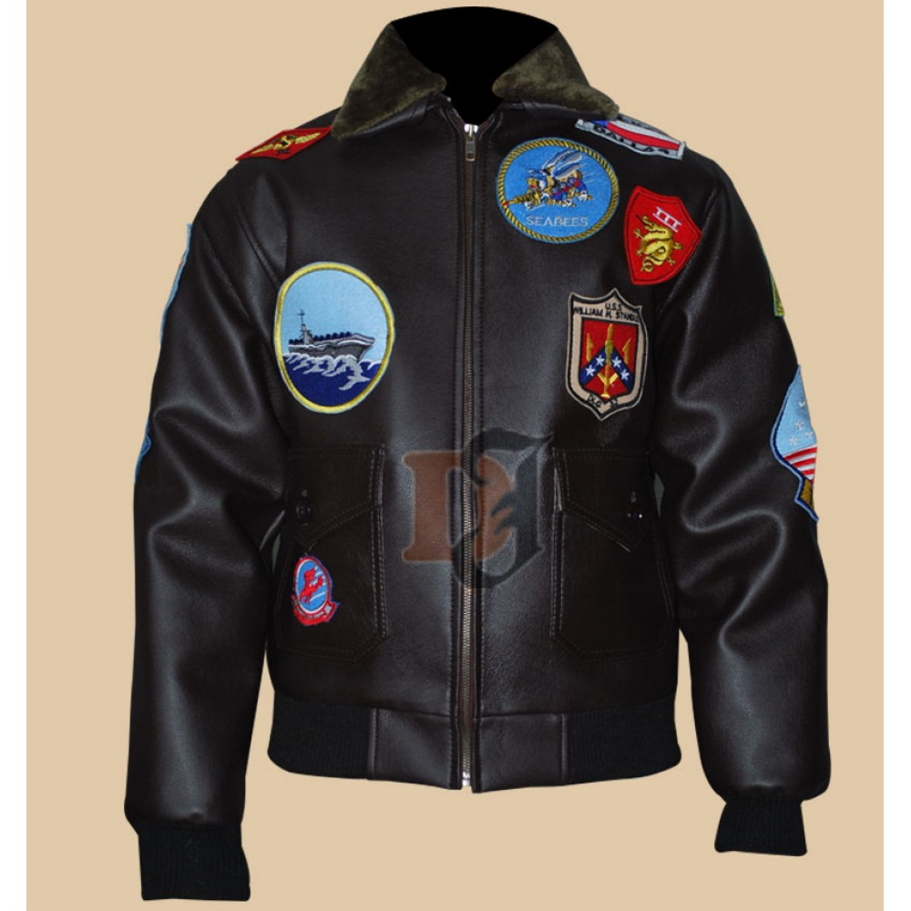 e07e9bb1a6e Buy Tom Cruise Bomber Top Gun Patches Flight Jacket