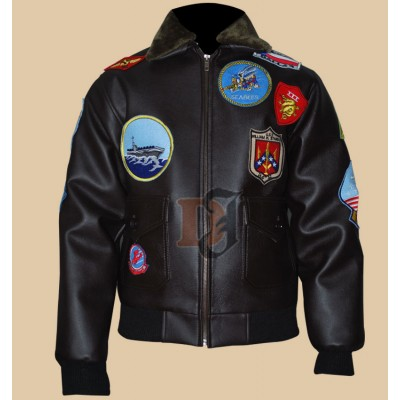 Tom Cruise Bomber Top Gun Patches Flight Jacket | Super Hero jacket